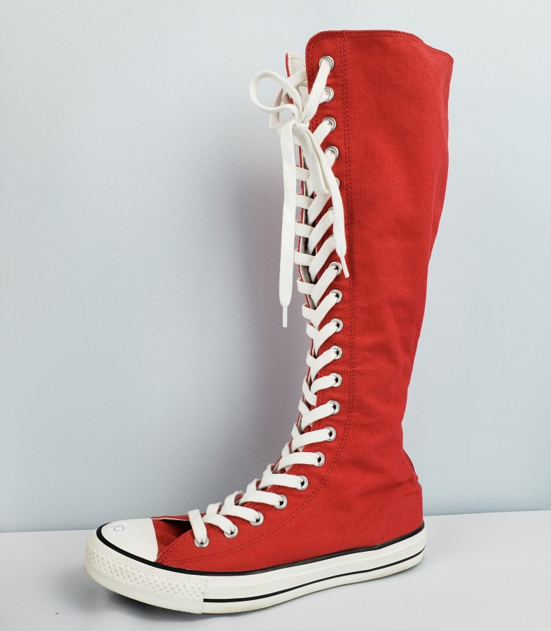 knee high converse red, OFF 76%,Best