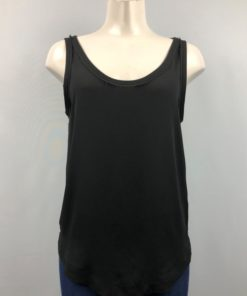 Zara Basic Black Scoop-Neck Sleeveless Top Size S