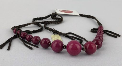 Red Beaded Fashion Necklace