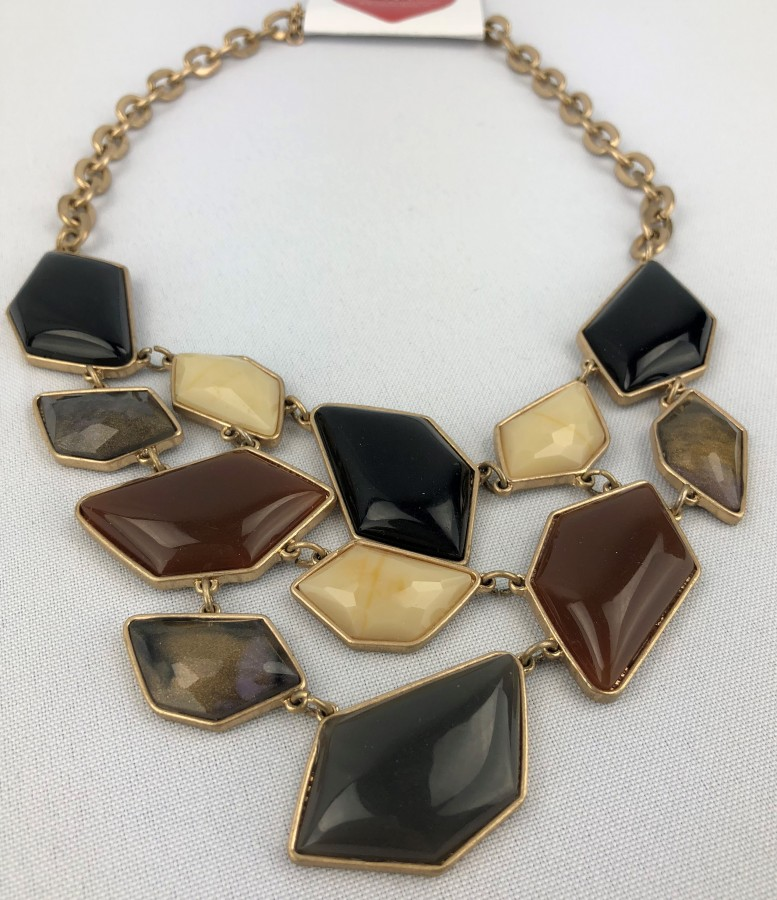 Assorted Beads Statement Necklace