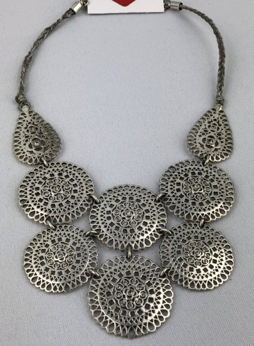 Silver Tone Statement Necklace