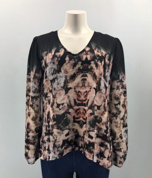 Dex Printed Top Size M
