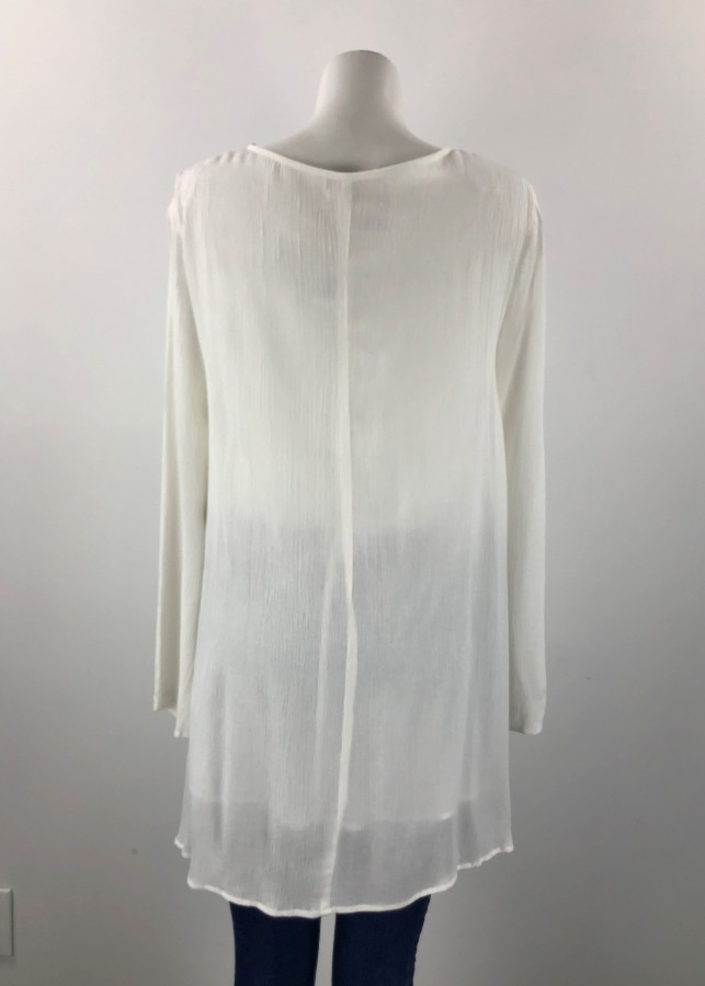 0a1dac944e9b9 Harlow White Flowy Top Size XL – Dress Your Lashes