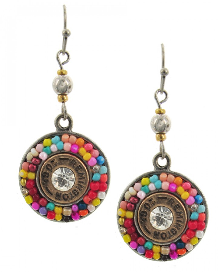 Colroful Round Drop Earrings