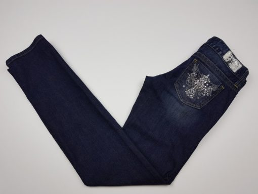 Guess Jeans Rhinestone Cross Pocket Detail Size 26