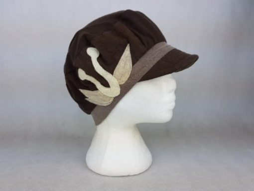 Brown & Taupe Recycled Materials Hat
