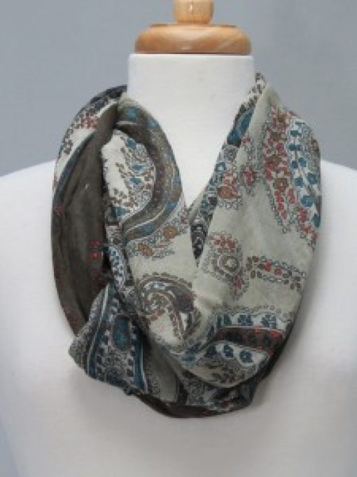 Taupe Steel Scarf