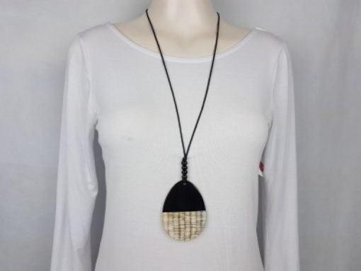 Buffalo Horn Long Adjustable Necklace