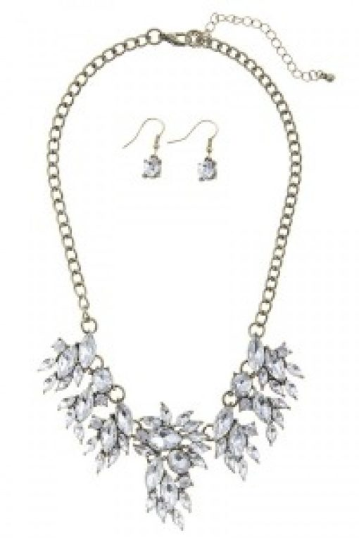 Gold & Silver Rhinestone Necklace Set
