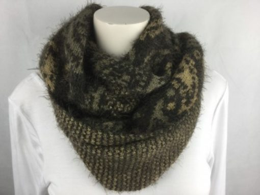 Brown Soft Circle Scarf