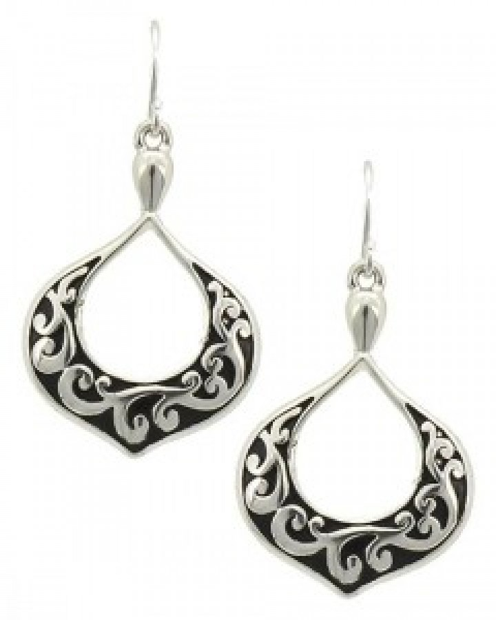 Antique Silver Filigree Dangle Earring Set