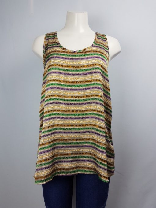Lumiere Sleeveless Printed Top Size M