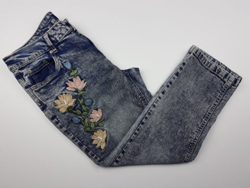 Suko Jeans With Floral Print Size 6