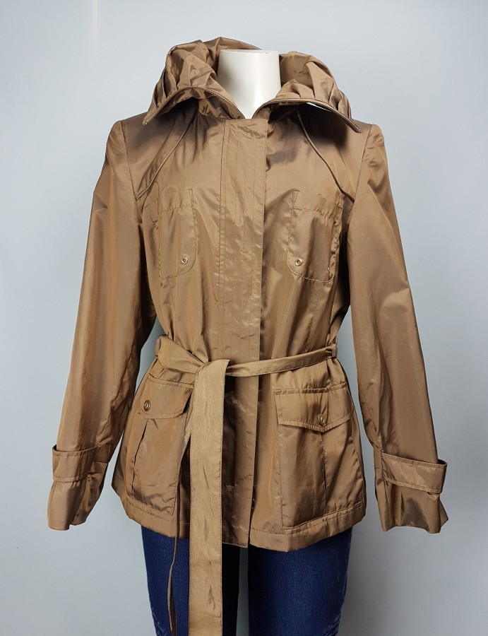Utex Brown Jacket With Collar Size L