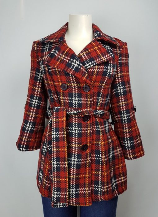 Digital Clothing Checkered Button Jacket Size L