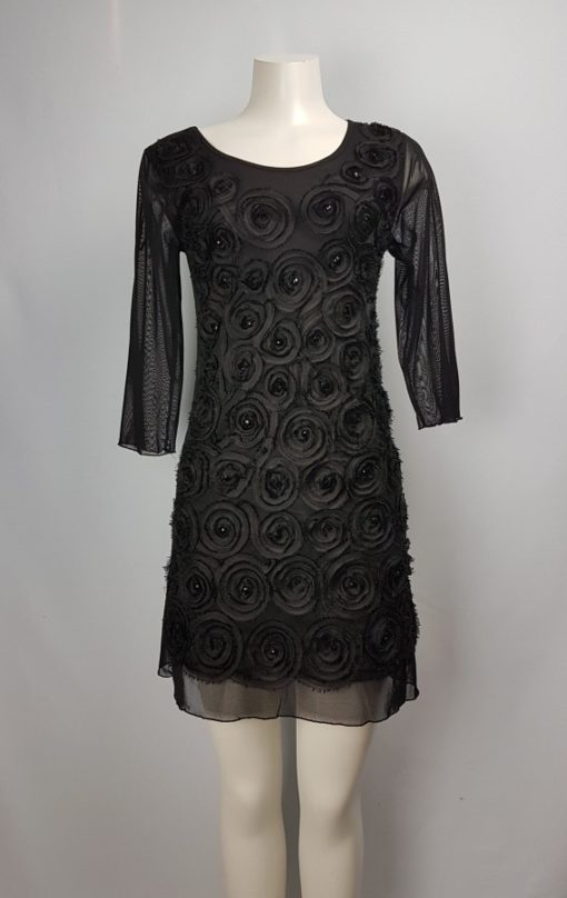 Papillon Black Lace Dress Size S