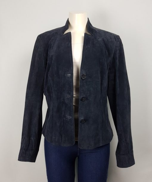 Angela Junio Danier Blue Three-Button Blazer Size 18