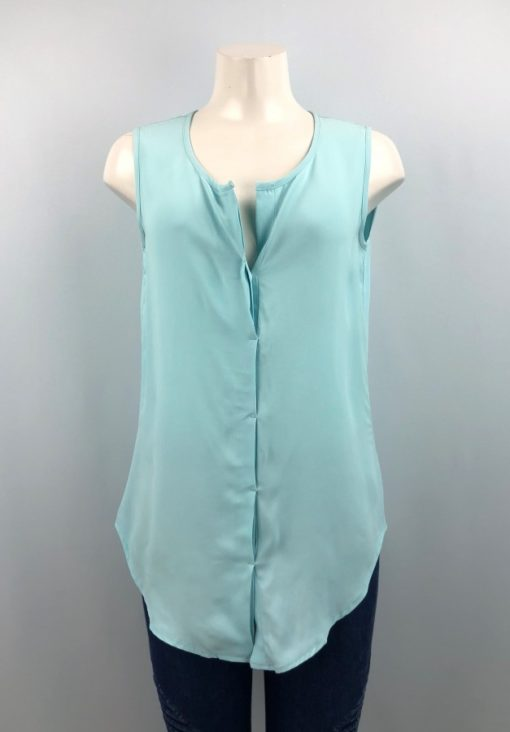 Le Chateau Blue Button Sleeveless Top Size XS