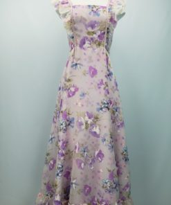 Floral Ruffle-Detail Gown Size 11