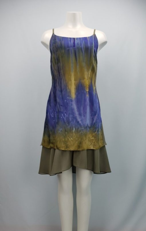 Spaghetti Printed Flared Dress Size L