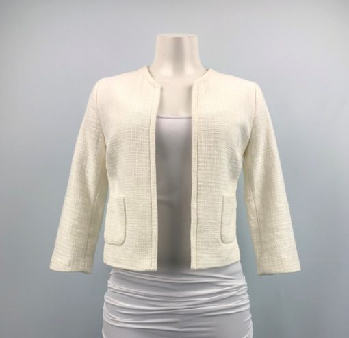 Gap Cream Open-Front Blazer With Pockets Size XS