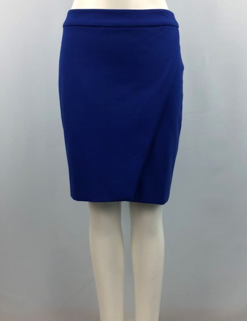 Ricki's Blue Folded-Detail Straight Skirt Size 6